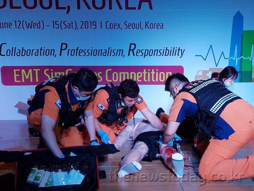 대전소방, 세계 구급대원 전문응급처치 경연대회 2위_경연모습.jpg